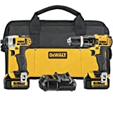 DEWALT DCK285L2 20V Max Lithium Ion Compact Hammerdrill and Impact Driver Combo Kit by DEWALT
