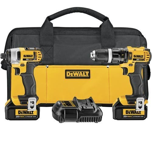 DEWALT-DCK285L2-20V-Max-Lithium-Ion-Compact-Hammerdrill-and-Impact-Driver-Combo-Kit-by-DEWALT