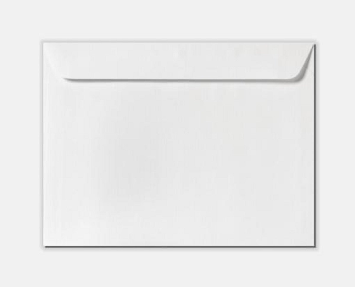10 X 13 White Wove Booklet 28lbs Peel and Seal Bulk of 500 standard