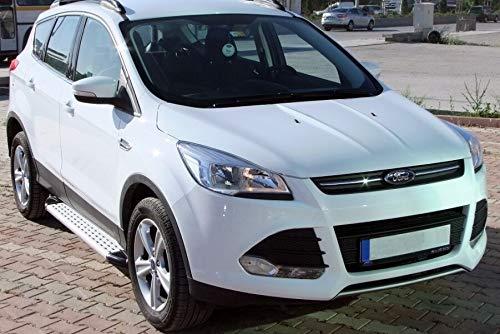 Trittbretter passend f/ür Ford Kuga ab Baujahr 2013-2016 Model Olympus in Chrom mit T/ÜV und ABE