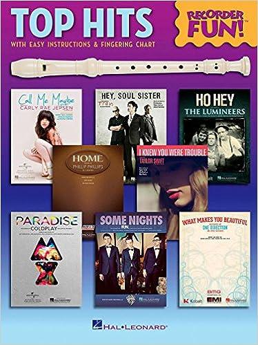 Amazon Hal Leonard Top Hits Recorder Fun Songbook With Easy