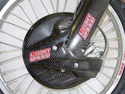 LightSpeed 135-00015 Carbon Fiber Front Disc Guard (Guard Disc)