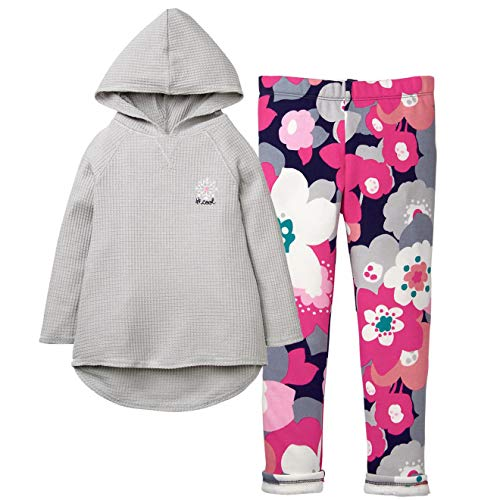 Gymboree Girls' 2-Piece Bundle Snowflake Hooded Tunic + Warm & Fuzzy Leggings - Girls Gymboree Pants Fleece