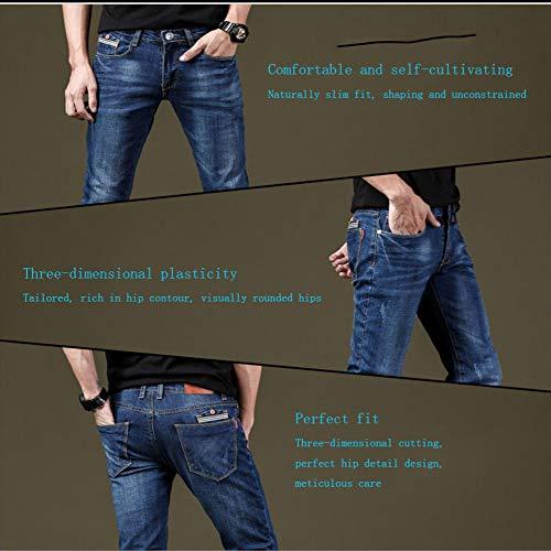 Jeans Uomo Da Uomo In Elasticizzati Scuro Sundry Casual Blu Pantaloni BqxPRwyYcX