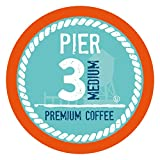 Pier 3 Single-Cup Coffee for Keurig K-Cup Brewers, Medium Roast, 100 Count