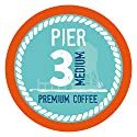 Pier 3 Single-Cup Coffee for Keurig K-Cup Brewers, Medium Roast, 40 Count