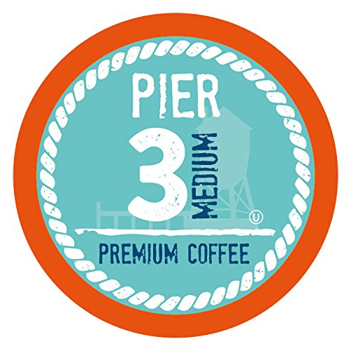 Including Boxed Maps - Pier 3 Medium Roast Coffee Pods, Compatible with 2.0 K-Cup Brewers, 40 Count