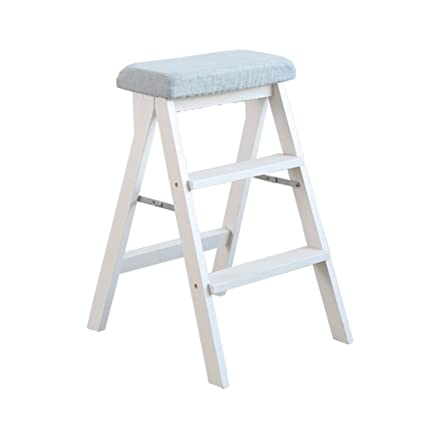 Outstanding Amazon Com Stepladders Solid Wood Ladder Stool Folding Fold Squirreltailoven Fun Painted Chair Ideas Images Squirreltailovenorg