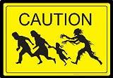 Aquarius Caution Zombies Tin Sign