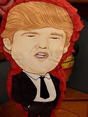 Donald Trump Pinata With Removable HAIR PIECE Cartoon impression 22'' x 12'' by Handmade