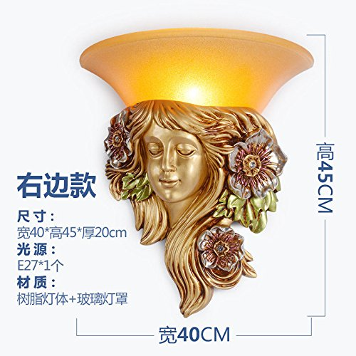 Wall lamp Bracket Light Sconces European Living Room TV Background Creative Bedroom Bedside lamp Aisle Stairs Children Room Right