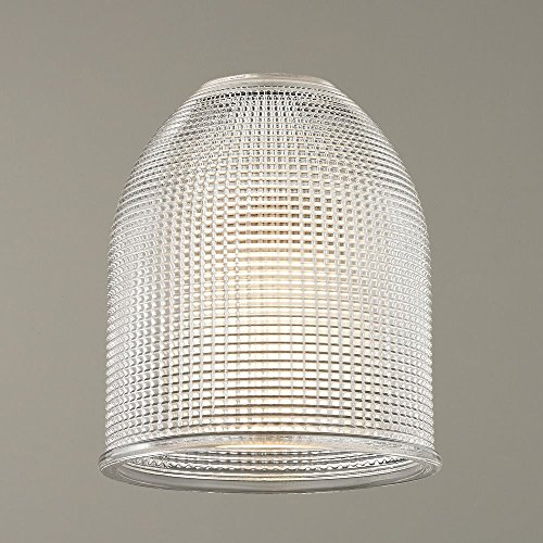 Clear Prismatic Glass Dome Shade 1-5/8-Inch Fitter