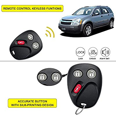 YITAMOTOR Key Fob Replacement Keyless Entry Remote Compatible for 2003 2004 2005 2006 Chevy Tahoe Suburban/GMC Sierra Yukon/Cadillac Escalade/Hummer H2 (LHJ011): Car Electronics