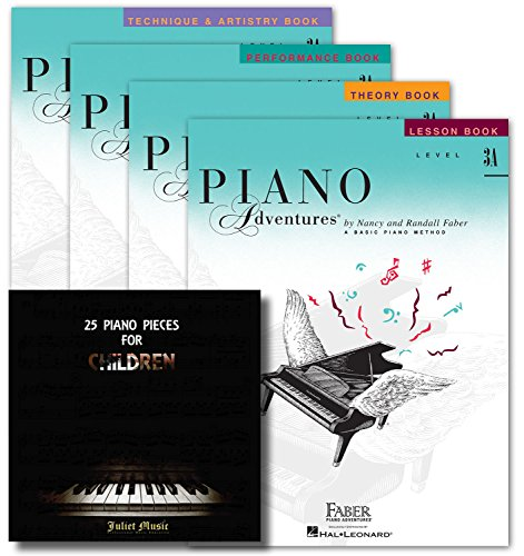 Faber Piano Adventures Level 3A Learning Library Set - Lesson, Theory, Performance, Technique & Artistry Books