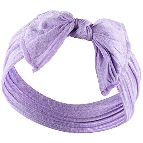 YOUR NEW FAVORITE HEADBAND Super Stretchy KNOT BABY HEADBAND For Newborn and Baby Girls By Zelda Matilda,Lavender (Lavender Headbands Girl)