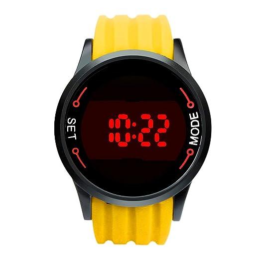 Cebbay Reloj LED de los Hombres Elegante Pantalla táctil Impermeable Reloj Inteligente Correa de Silicona Negocios