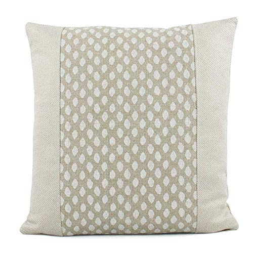Chloe & Olive Beige and Cream Throw Toss Pillowcase - 18