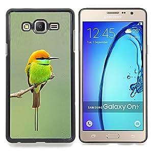- green orange tiny cute bird blurry branch - - Modelo de la piel protectora de la cubierta del caso FOR Samsung Galaxy On7 G6000 RetroCandy