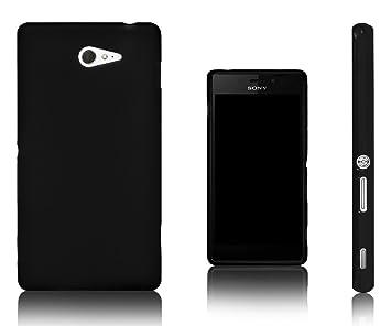 Xcessor Vapour Funda Carcasa de TPU Gel Flexible Para Sony Xperia M2. Negro