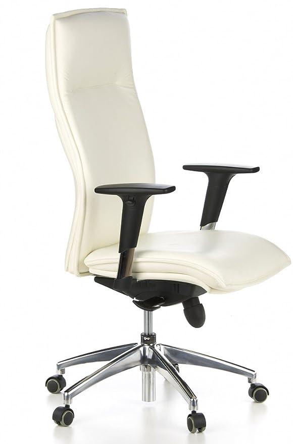 hjh OFFICE Murano 20 Silla de Oficina, Crema, 52.0x59.0x133.0 cm