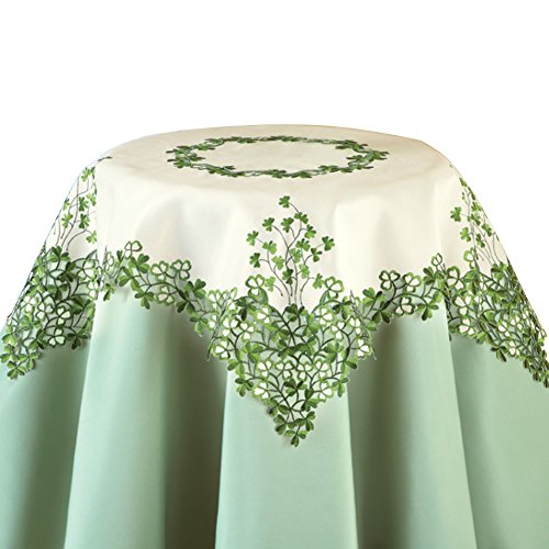 Embroidered Irish Clover Linens Square