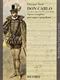 Image of Don Carlo (5 Acts): Vocal Score (Ricordi Opera Vocal Score)