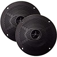 SeaWorthy SEA5632B 6.5 Marine Speakers Pair Round 2-Way 100W Black Consumer Electronics