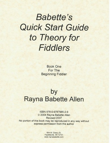 - Babette's Quick Start Guide to Theory for Fiddlers Book One