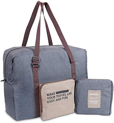 Luxtude Duffle Bag with Adjustable Strap, 30L Travel Foldable Duffle Bag, Resistance of Water & Tear Travel Duffel Bag, Overnight Bag Mens Weekender Bag, Portable Travel Duffle Bag for Women and Men.