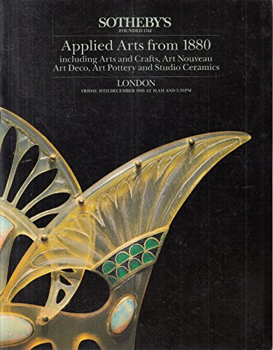 Applied Arts Including Arts and Crafts, Art Nouveau, Art Deco, Art Pottery and Studio Ceramics