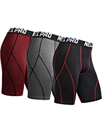 Men's 3 Pack Sport Compression Shorts