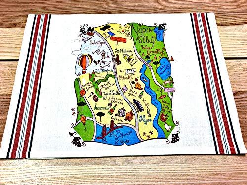 Napa Valley Map Kitchen \ Tea Towel