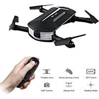 Selfie Drone,Kingtoys JJR/C H37 Mini Pocket Drone , WIFI FPV 720P Camera Foldable Quadcopter,