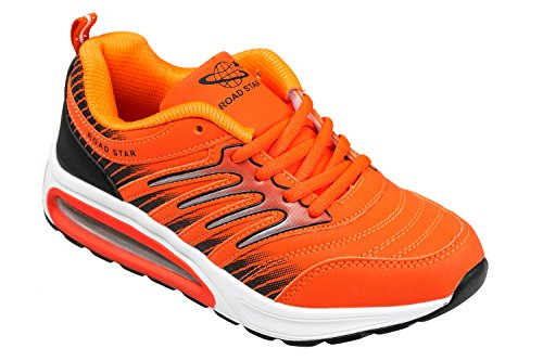 36 fluo GIBRA fluo orange confortable très léger baskets taille et orange wvAPwnqa8