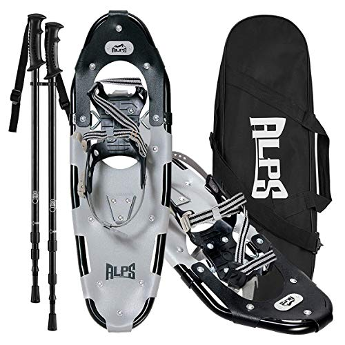 ALPS Lightweight Men Snowshoes kit +Trekking Poles,Carrying Tote 21
