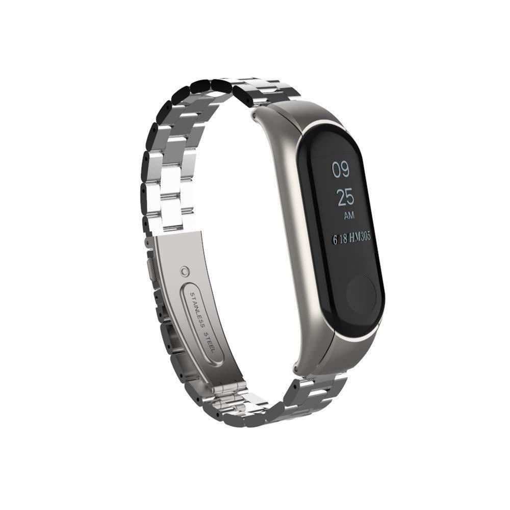 Amazon.com: Lnicesky Watch for Xiaomi Mi Band 3 Fashion Stainless Steel Luxury Wrist Strap Metal Wristband: Clothing