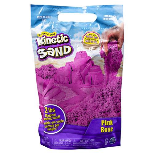 Kinetic Sand The Original Moldable Sensory Play Sand, Pink, 2 Lb