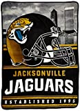 Northwest Officially Licensed NFL Jacksonville Jaguars Stacked Silk Touch Throw Blanket, 60″ x 80″