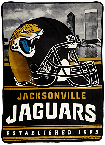 Northwest Officially Licensed NFL Jacksonville Jaguars Stacked Silk Touch Throw Blanket, 60