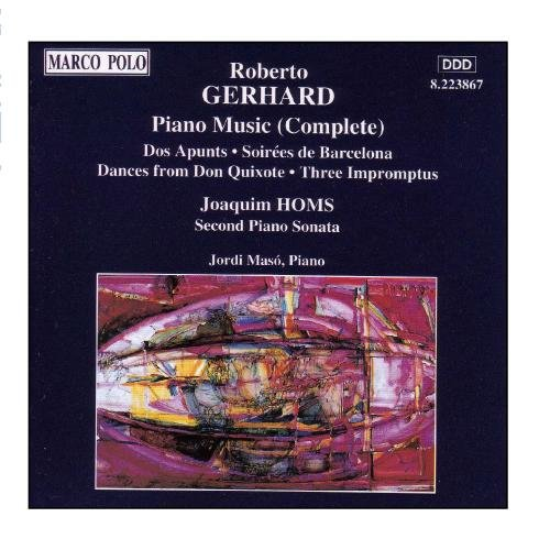 Merveilleux Jordi Maso, Roberto Gerhard, Joaquim Homs   GERHARD: Piano Music (Complete)    Amazon.com Music