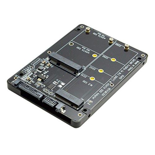 adaptador convertidor M.2 NGFF B-key & mSATA SSD to SATA 3.0