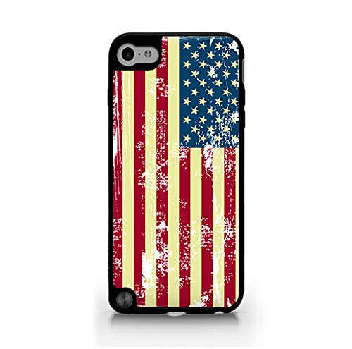 American Flag iPod touch 5 - American Flag Display - US Flag Case - Vintage - Patterned - Retro Hard Plastic, Protective Black Case, Dust and Scratch Proof for Ipod touch Gen5 ( iPod Touch (Cream Flag)