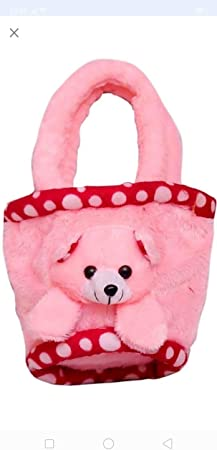 Jassi Toy Soft Toys Kids Purse Hand Bag for Kids (Pink)