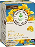 Traditional Medicinals Organic Yellow Pau D'Arco Herbal Tea, 16 Tea Bags (Pack of 6)