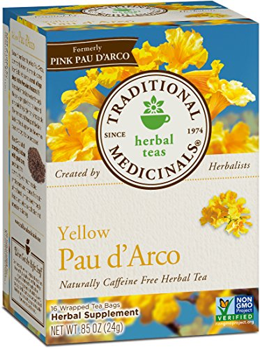- Traditional Medicinals Organic Yellow Pau D'Arco Herbal Tea, 16 Tea Bags (Pack of 6)