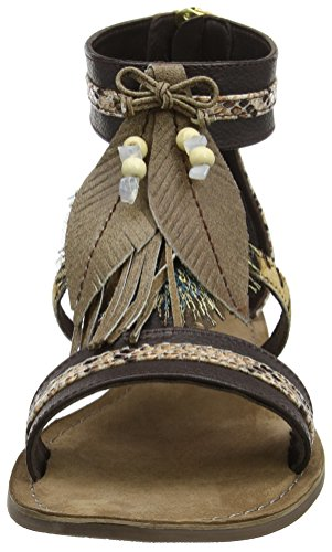 tobillo Sandalias Keegan de Lotus Marrón Mujer Brown tS0qCx6w