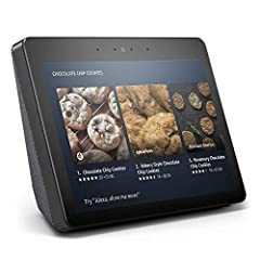 """Echo Show features a new look, a vibrant 10.1"""" HD screen, built-in smart home hub, and improved speakers that deliver expansive stereo sound."""