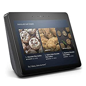 """Echo Show (2nd Gen) – Premium sound and a vibrant 10.1"""" HD screen – Charcoal"""