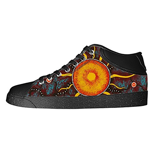 Custom Sun Painting Womens Classic High Top Canvas Shoes Fashion Sneaker (Diego Chargers San Nike Shoe)