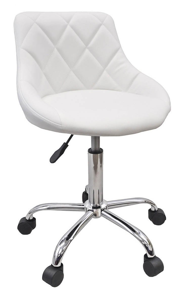 DevLon NorthWest Salon Nail Pedicure Manicure Medical Adjustable Swivel Rolling Stool White by DevLon NorthWest